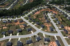 Suburban Streets Aerial Stock Photos