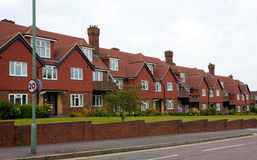 Suburban terraced houses Royalty Free Stock Image