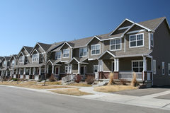 Suburban Town Homes Royalty Free Stock Photo