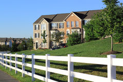 Suburban Townhouses royalty free stock images