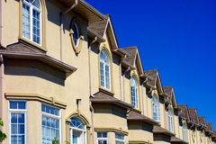 Suburban Townhouses. A suburban street on September 5, 2013 in Richmond Hill, Canada. Richmond Hill is the 28th most populous municipality in Canada stock photography