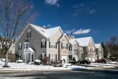 Suburban townhouses stock image