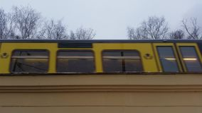 Suburban train in motion stock footage