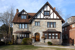 Suburban tudor style house Stock Photo