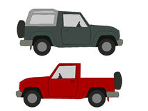Suburban utility vehicles Royalty Free Stock Photos