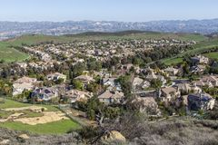 Suburban Valley Stock Photography