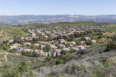 Suburban Valley Housing Tracts Royalty Free Stock Images