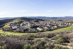 Suburban Valley Royalty Free Stock Photo