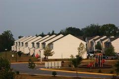 Suburban View. Tract homes exhibit a monotonous continuation in suburban Virginia stock photos