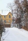 Suburban Winter stock photo