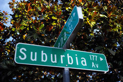 Suburbia Av street sign Stock Photos