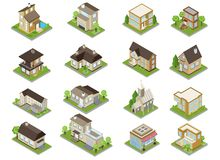 Suburbia Buildings Icons Set