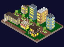 Suburbia Buildings Illustration