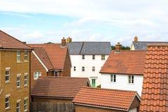 suburbia Casas em um bairro social suburbano moderno imagens de stock