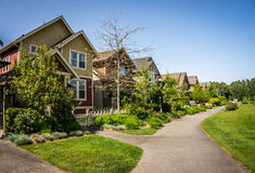 Suburbia in Fort Langley Stock Photos