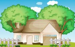 Suburbia. Illustration of a suburban house Royalty Free Stock Image
