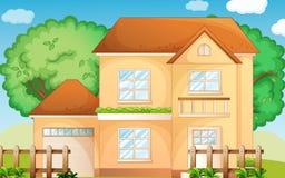 Suburbia. Illustration of a suburban house Royalty Free Stock Photos