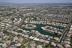 Suburbia on the Lake Stock Image