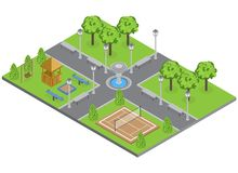 Suburbia Park Illustration