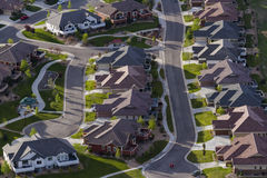 Suburbia. Typical american suburban development Royalty Free Stock Photography