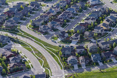 Suburbia. Typical american suburban development Stock Images