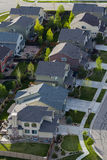 Suburbia. Typical american suburban development Royalty Free Stock Photo