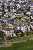 Suburbia. Typical american suburban development Stock Photo