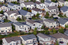 Suburbia. Typical american suburban development Stock Photos