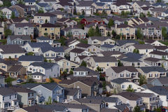 Suburbia. Typical american suburban development Royalty Free Stock Images