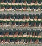 Suburbian Streets and Houses Royalty Free Stock Images