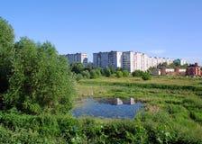 Suburbio de la ciudad Foto de archivo