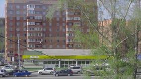 Suburbio de Novosibirsk almacen de metraje de vídeo