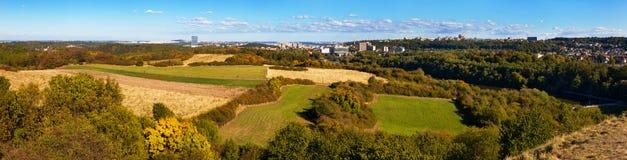 Suburbio de Praga en caída Foto de archivo libre de regalías