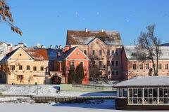 Suburbio de Troitskoye en invierno Imagen de archivo libre de regalías