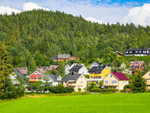 Suburbio noruego cerca de Oslo Fotos de archivo libres de regalías