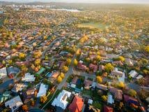 Suburbio típico en Australia Fotografía de archivo libre de regalías