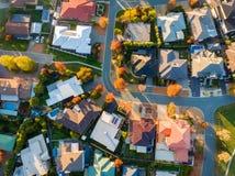 Suburbio típico en Australia Fotografía de archivo
