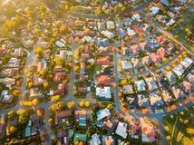 Suburbio típico en Australia Foto de archivo