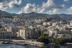 Suburbios de Messina Sicilia Fotografía de archivo