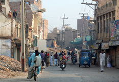 Suburbios de Multan Imagenes de archivo