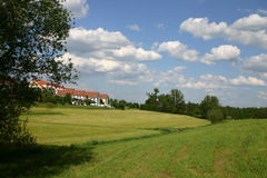 The suburbs. Family homes in the suburbs of a small German town stock images