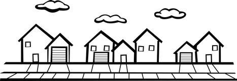 Suburbs royalty free illustration