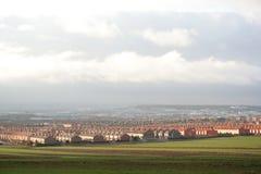 Suburbs. Neighborhood in the suburbs of Madrid Royalty Free Stock Photos