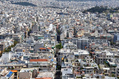 Suburbs of athens Stock Photo