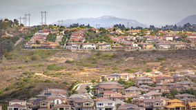 Suburbs in front of a mountain Royalty Free Stock Photo