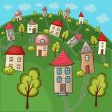 Suburbs and houses Stock Photos