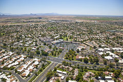 Suburbs meet the Desert Royalty Free Stock Photos