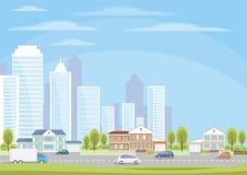 The suburbs of the metropolis Stock Photos