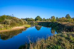 The suburbs of the Moscow city. River Kirzhach. Royalty Free Stock Image