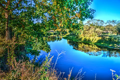 The suburbs of the Moscow city. River Kirzhach. Royalty Free Stock Photography